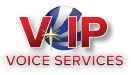 VIP Voice Services stylized logo and name