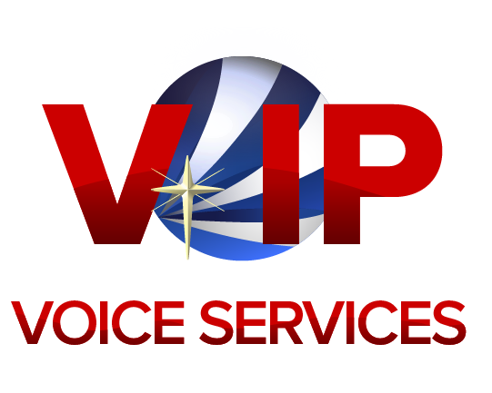 Stylized VIP Voice Services logo and name
