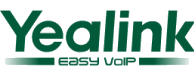 "Yealink Logo and tagline ""Easy VOIP"""