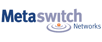 Metaswitched stylized logo and name