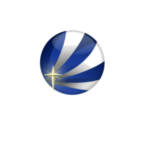 Stylized VIP Voice Services circular logo and Christian cross