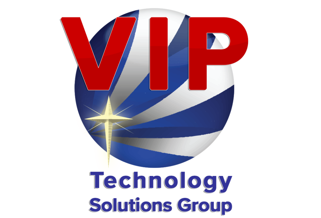 VIP Technology Solutions Group stylized logo and name