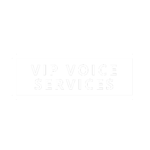 VIP Voice Services stylized name text overlay